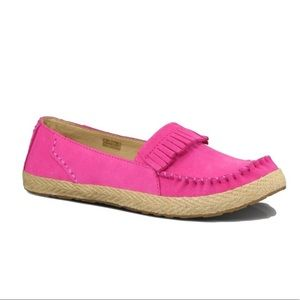 New UGG Marrah Suede Leather Pink Moccasins